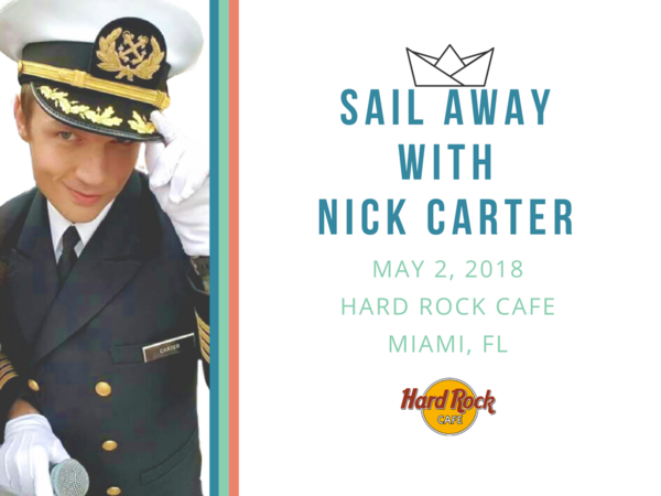 JUST ANNOUNCED: Sail Away With Nick Carter Special Event