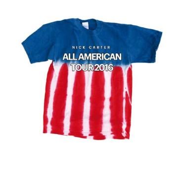 All American Tour Tie Dye Tee