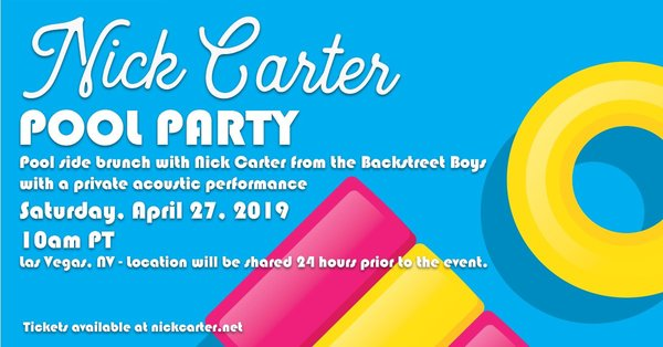 Party By The Pool With Nick Carter!