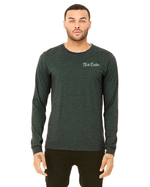 Exclusive Carter Long Sleeve Navy Tee