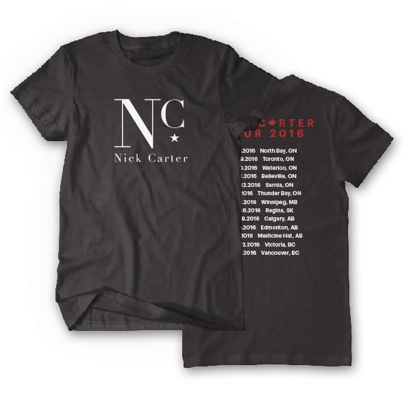 Nick Carter Canada 2016 Tour T-Shirt