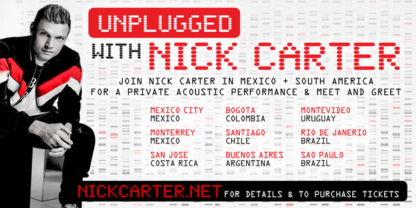 Join Nick for Unplugged Events in Mexico + South America!