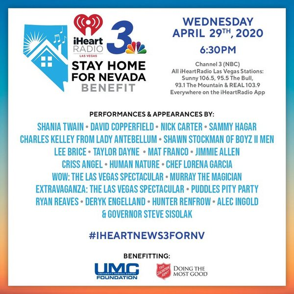Nick Joins Line Up For 'Stay Home For Nevada' Benefit