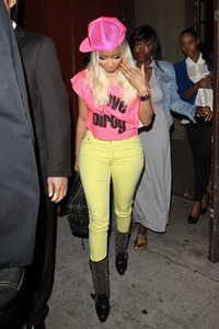 July 28 - Nicki Minaj spotted leaving Crustacean in Beverly Hills.