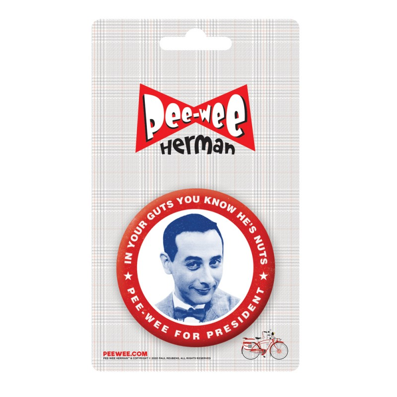 Pee-wee Presidential Button