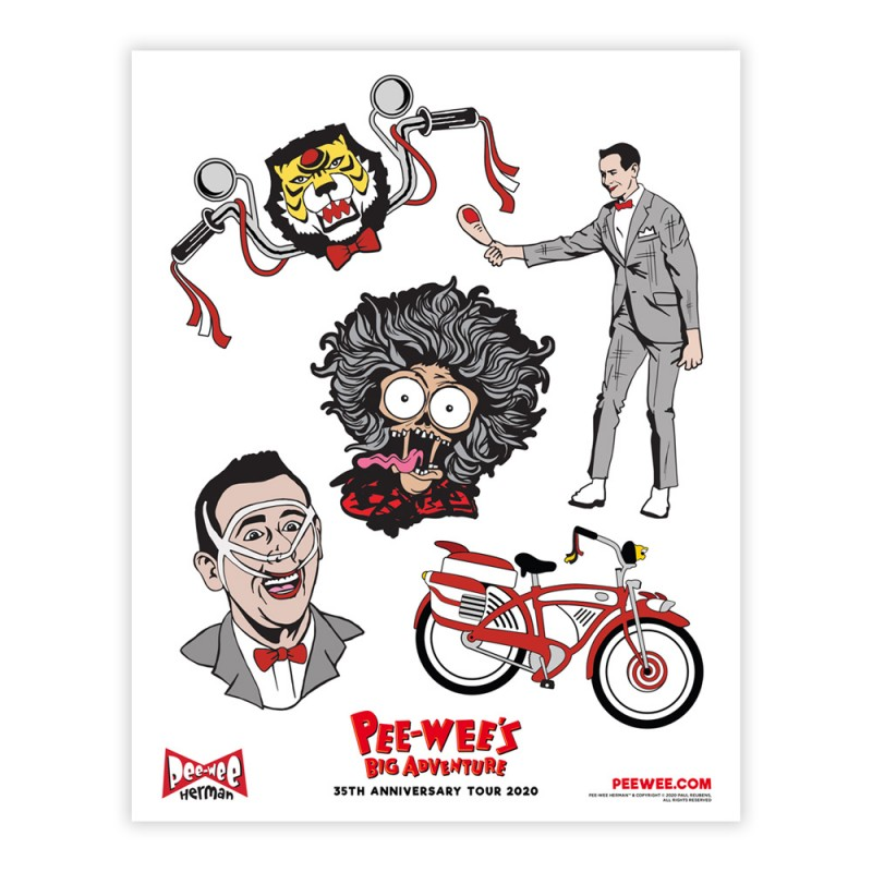 Pee-wee Stickers