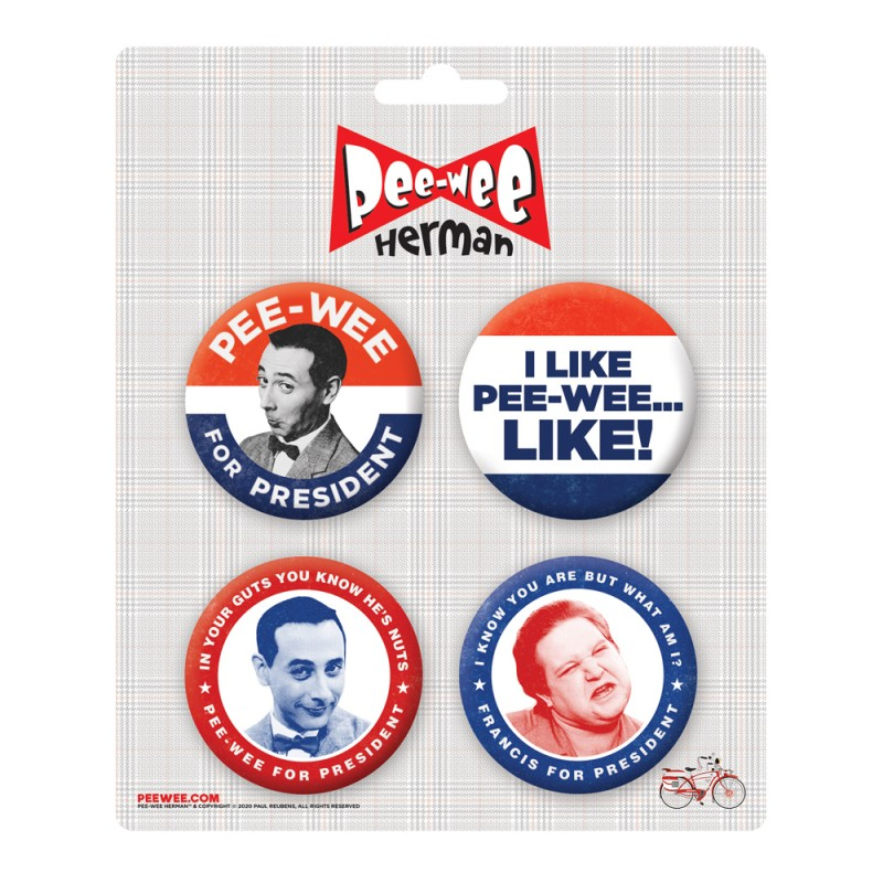 Pee-wee Presidential Button Pack