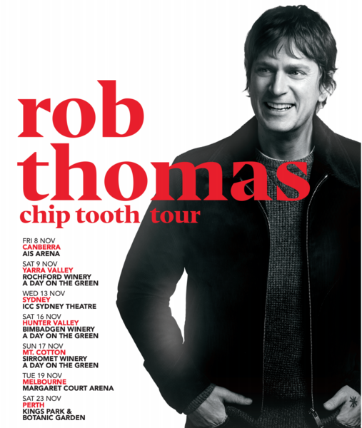 Rob Thomas Announces Australia Dates