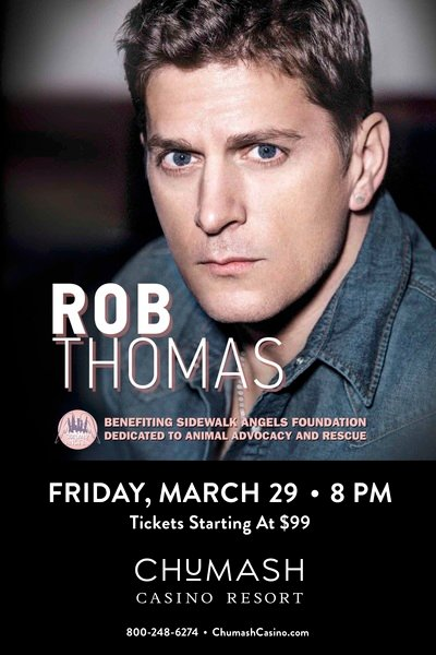 Rob Thomas Brings Annual Sidewalk Angels Benefit Show To The West Coast