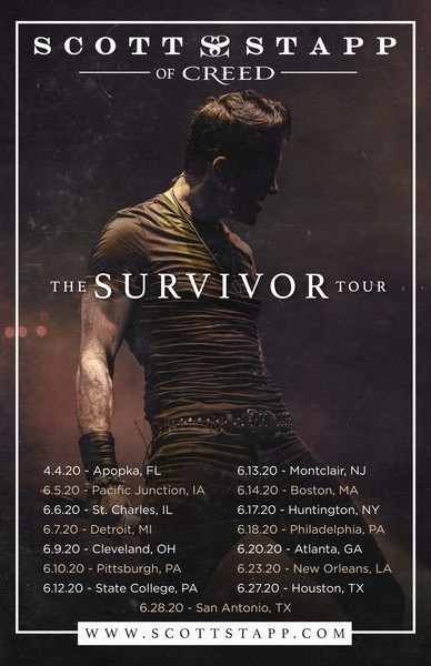 "SCOTT STAPP TO RELEASE EMPOWERING NEW ANTHEM ""SURVIVOR""; ANNOUNCES THE SURVIVOR TOUR"