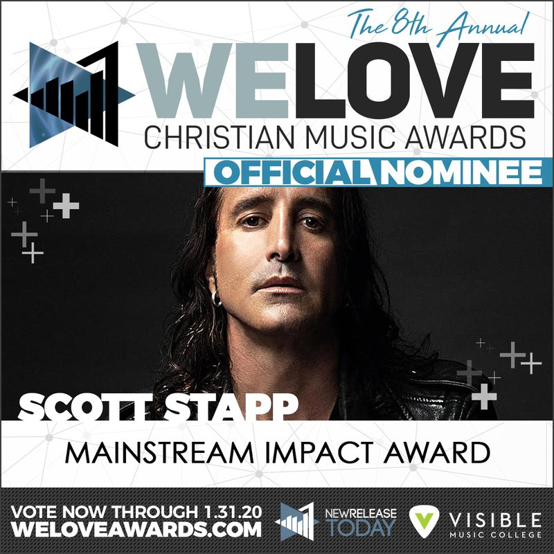 "Scott Stapp nominated for the ""We Love Christian Music Awards"""