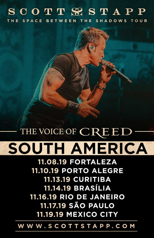 SCOTT STAPP ANNOUNCES NOVEMBER TOUR DATES IN SOUTH AMERICA
