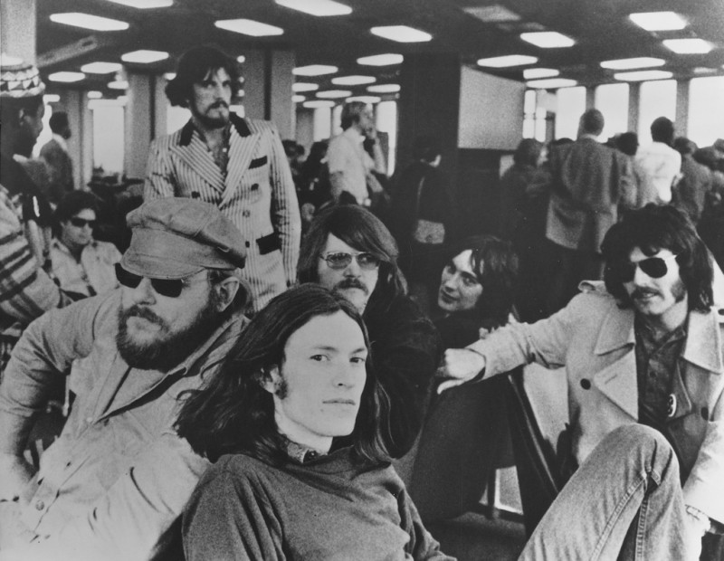 Traffic 1973 (L to R): Anthony Reebop Kwaku Baah, Barry Beckett, Jim Capaldi, Steve Winwood, Roger Hawkins, Chris Wood, David Hood