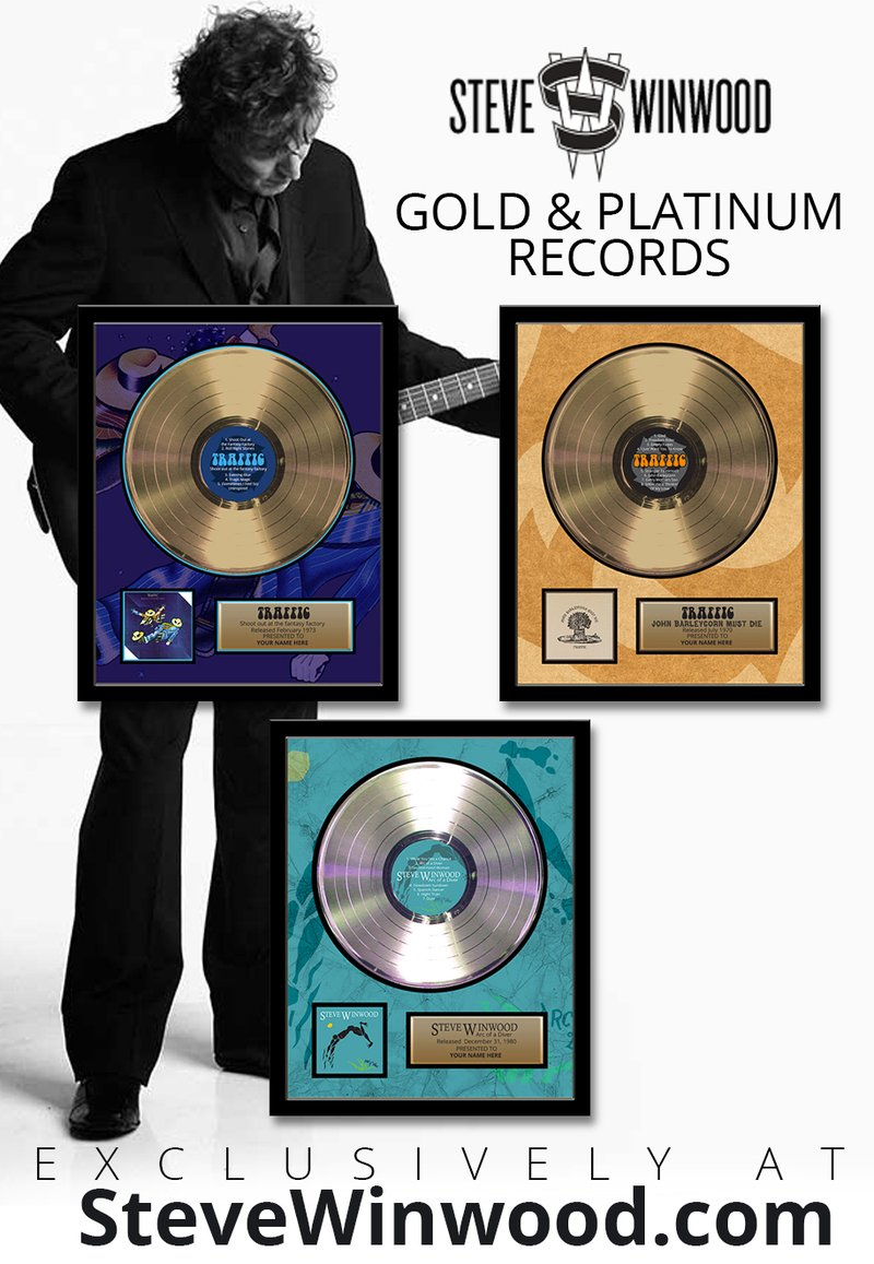 Limited Edition Framed Gold & Platinum Records
