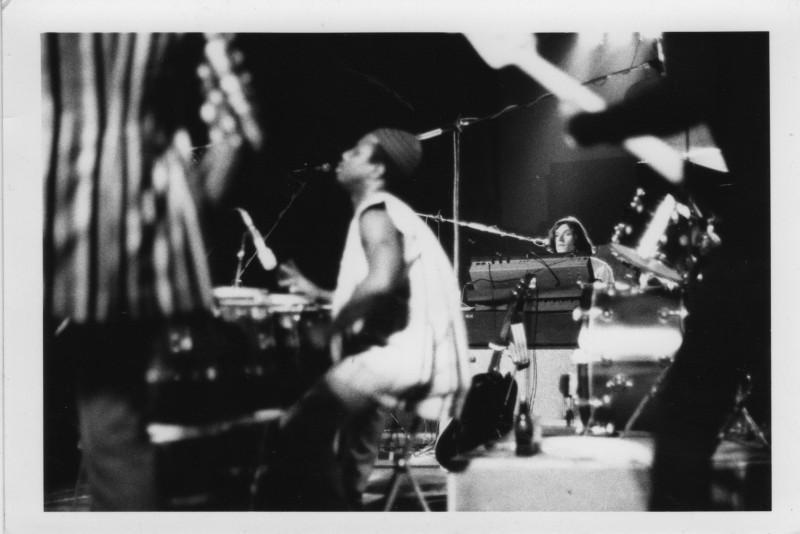 Reebop Kwaaku Baah (congas) and Steve Winwood (keys), circa 1974