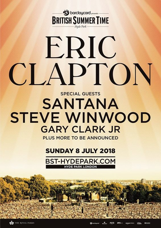 Pre-Sale Announcement: Live at Hyde Park with Eric Clapton, Carlos Santana, and Gary Clark, Jr.