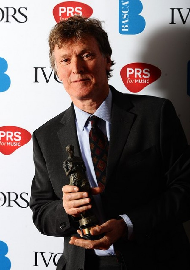 Steve picks up an award for Outstanding Song Collection at the London held awards, May 19, 2011