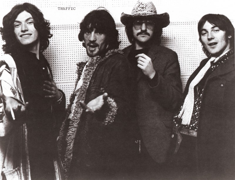 Traffic (L to R): Steve Winwood, Jim Capaldi, Dave Mason, and Chris Wood circa 1969