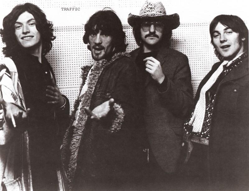 Traffic (L to R): Steve Winwood, Jim Capaldi, Dave Mason, and Chris Wood circa 1969