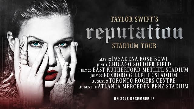 New Dates Added to Taylor Swift's reputation Stadium Tour