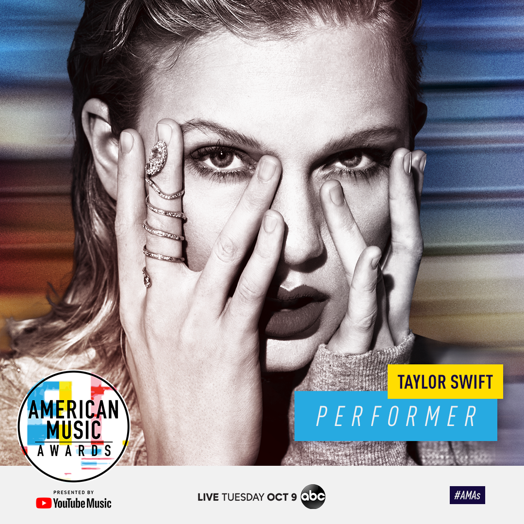 TAYLOR TO OPEN UP THE 2018 AMERICAN MUSIC AWARDS