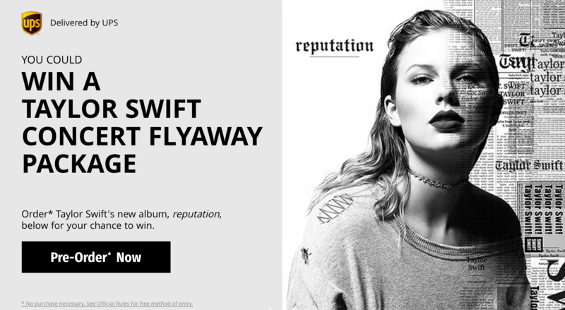 TAYLOR PARTNERS WITH UPS FOR NEW ALBUM