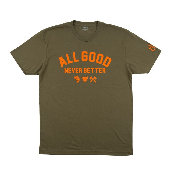All Good x Cabin Olive T-Shirt
