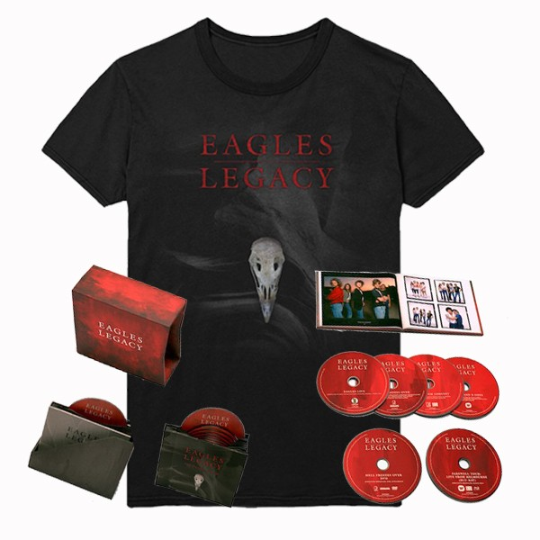 Eagles Legacy 12CD/DVD/BRD Box Set + Exclusive T-Shirt