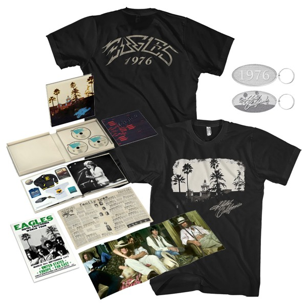 Hotel California: 40th Anniversary Deluxe Edition + Exclusive T-Shirt + Keychain