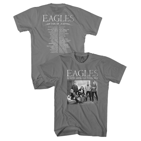 5c0c6b55ca4 North American 2018 Grey Tour T-Shirt
