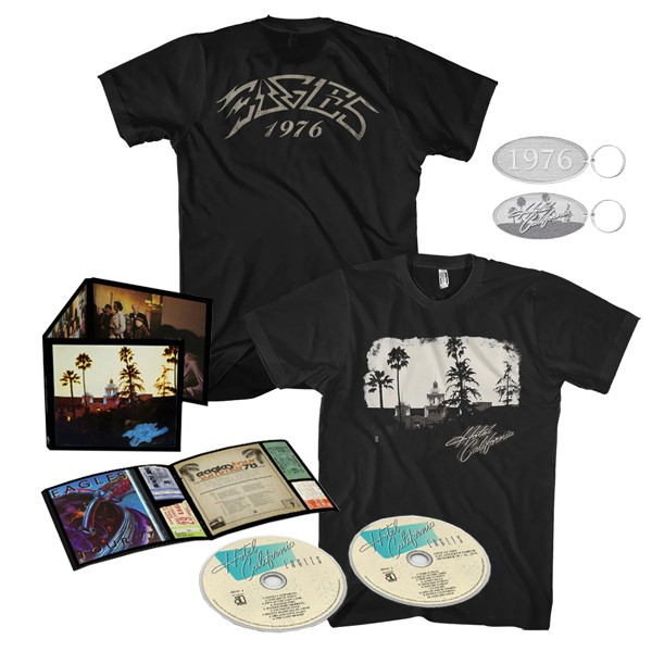 Hotel California: 40th Anniversary Expanded Edition + Exclusive T-Shirt + Keychain