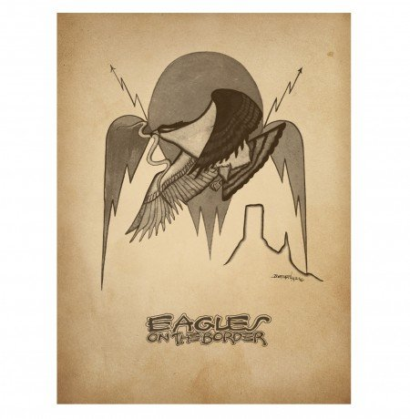 Eagles On The Border Poster