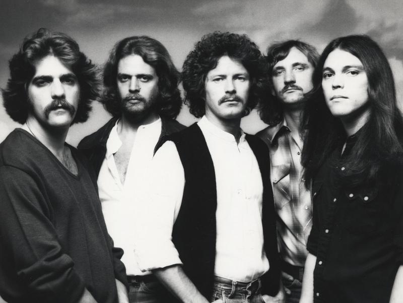 Eagles members Glenn Frey, Don Felder, Don Henley, Joe Walsh, and Timothy B. Schmidt