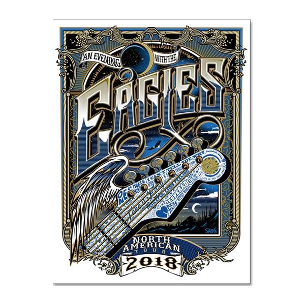 An Evening With The Eagles Tour Poster