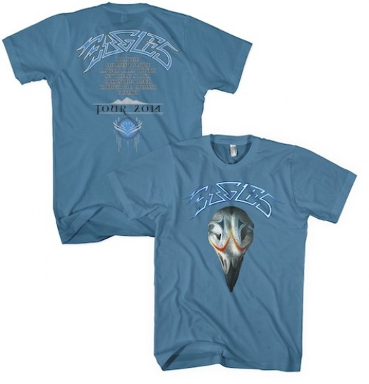 Eagles Greatest Hits 2014 Tour T-Shirt - Blue