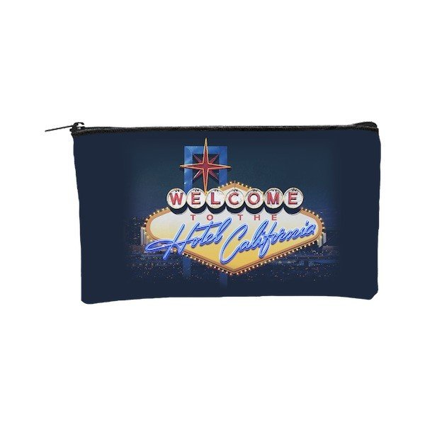 Las Vegas Hotel California Zippered Pouch