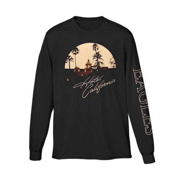 Eagles Hotel California Black Long Sleeve T-Shirt