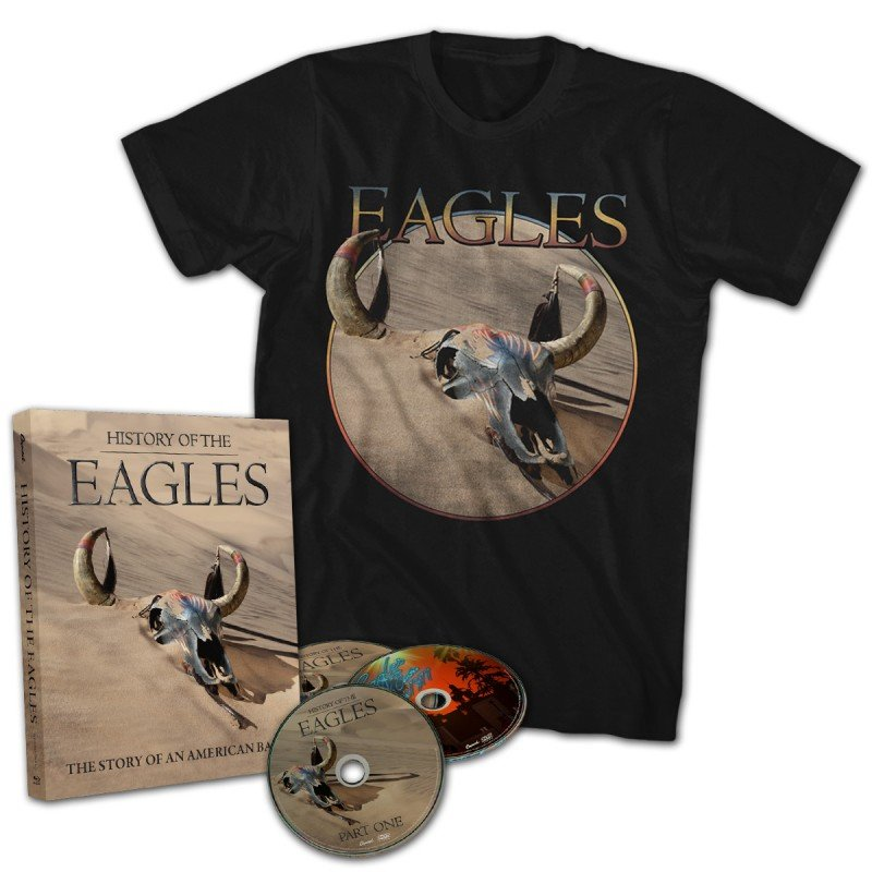 History Of The Eagles 3 Disc DVD Set T-Shirt Bundle