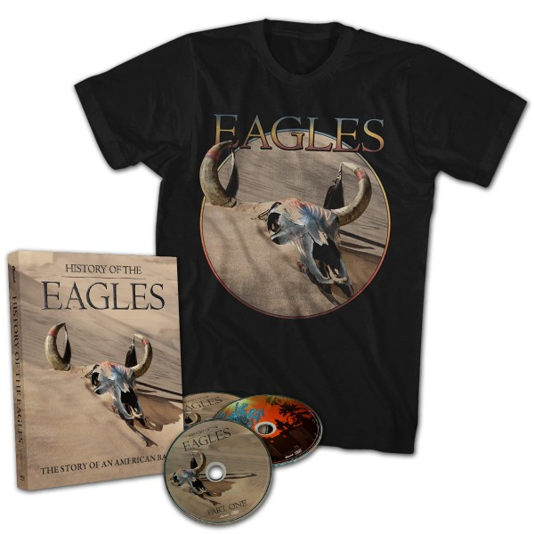 History Of The Eagles 3 Disc DVD Set T-Shirt Bundle image