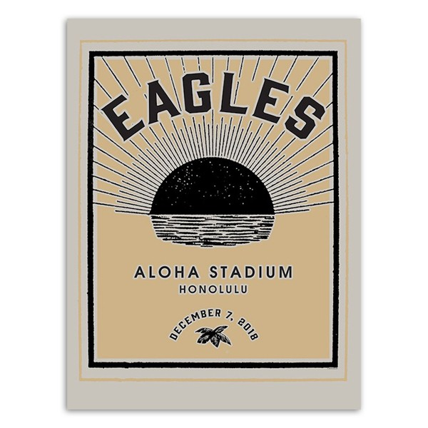 Eagles Aloha Stadium Honolulu Poster