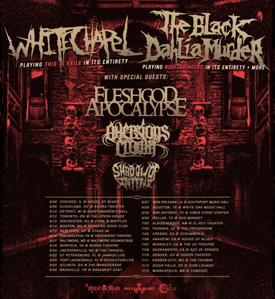Whitechapel and The Black Dahlia Murder Announce Co-Headlining US tour