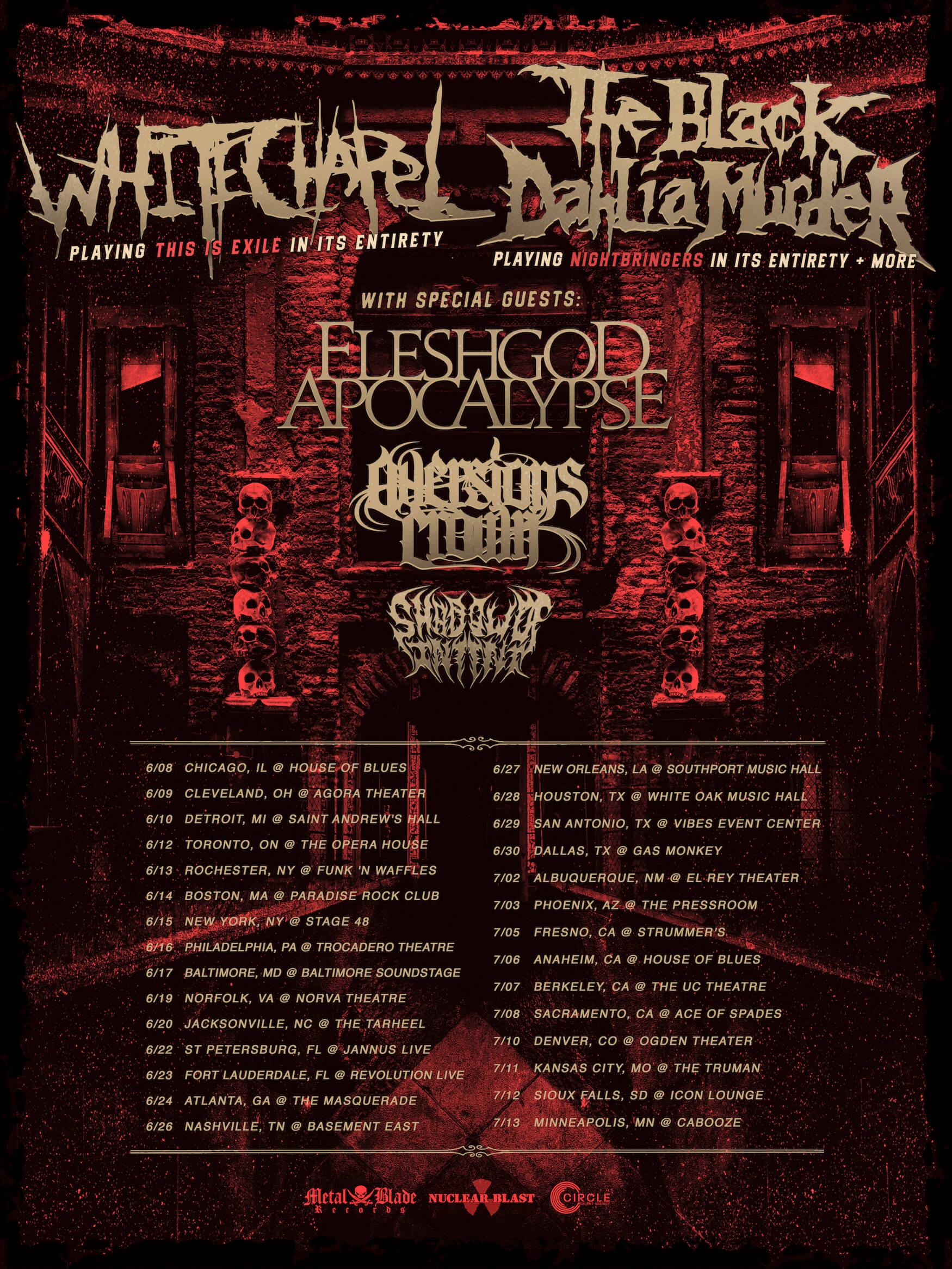 White Chapel Band Tour Dates