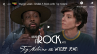 Wyclef Jean Shows Off His Handstand Skills for Tig Notaro