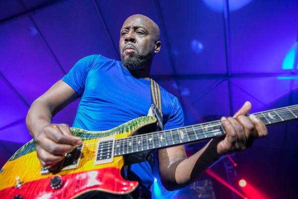 Wyclef Jean performs live, backed by The Jacksonville Symphony