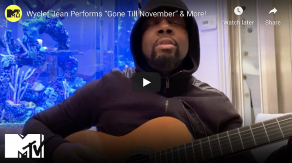 Watch Wyclef Jean Perform Acoustic Set on MTV's Debut 'Unplugged at Home'